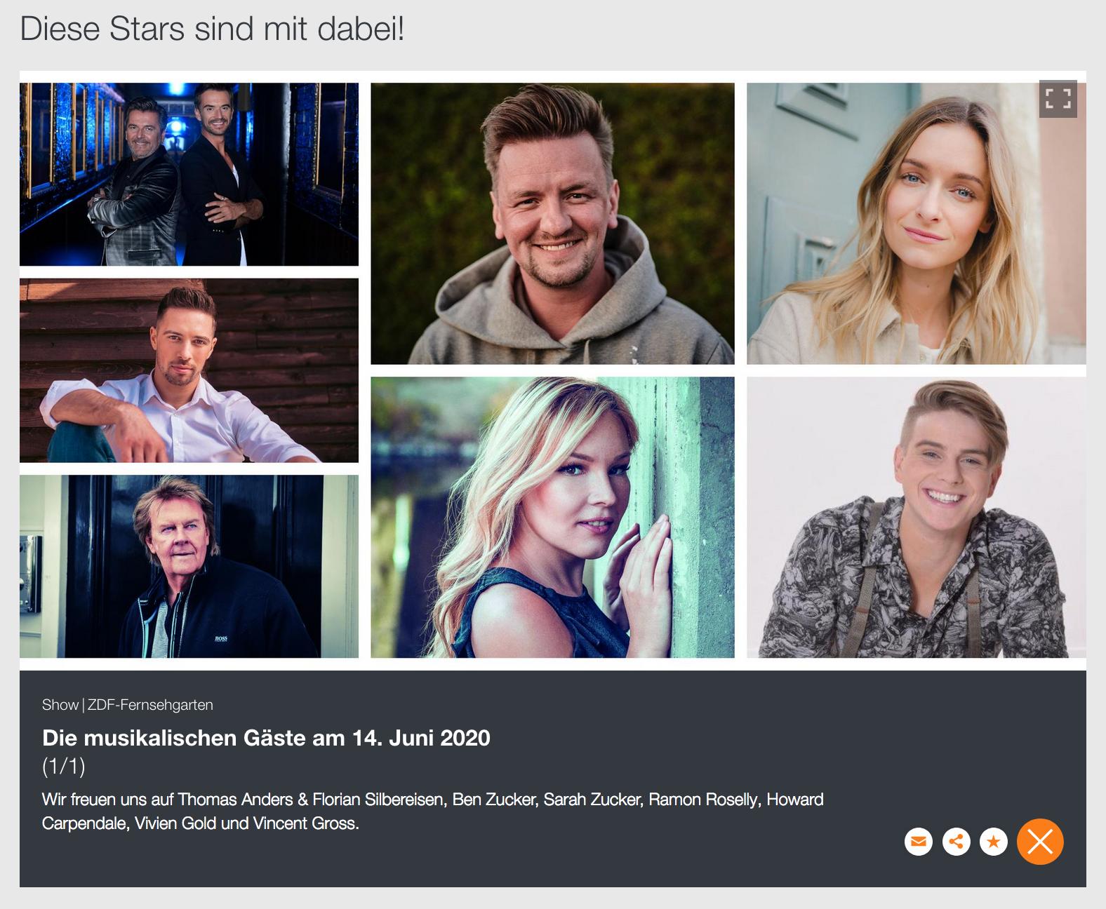 ZDF Fernsehgarten | Vivien Gold