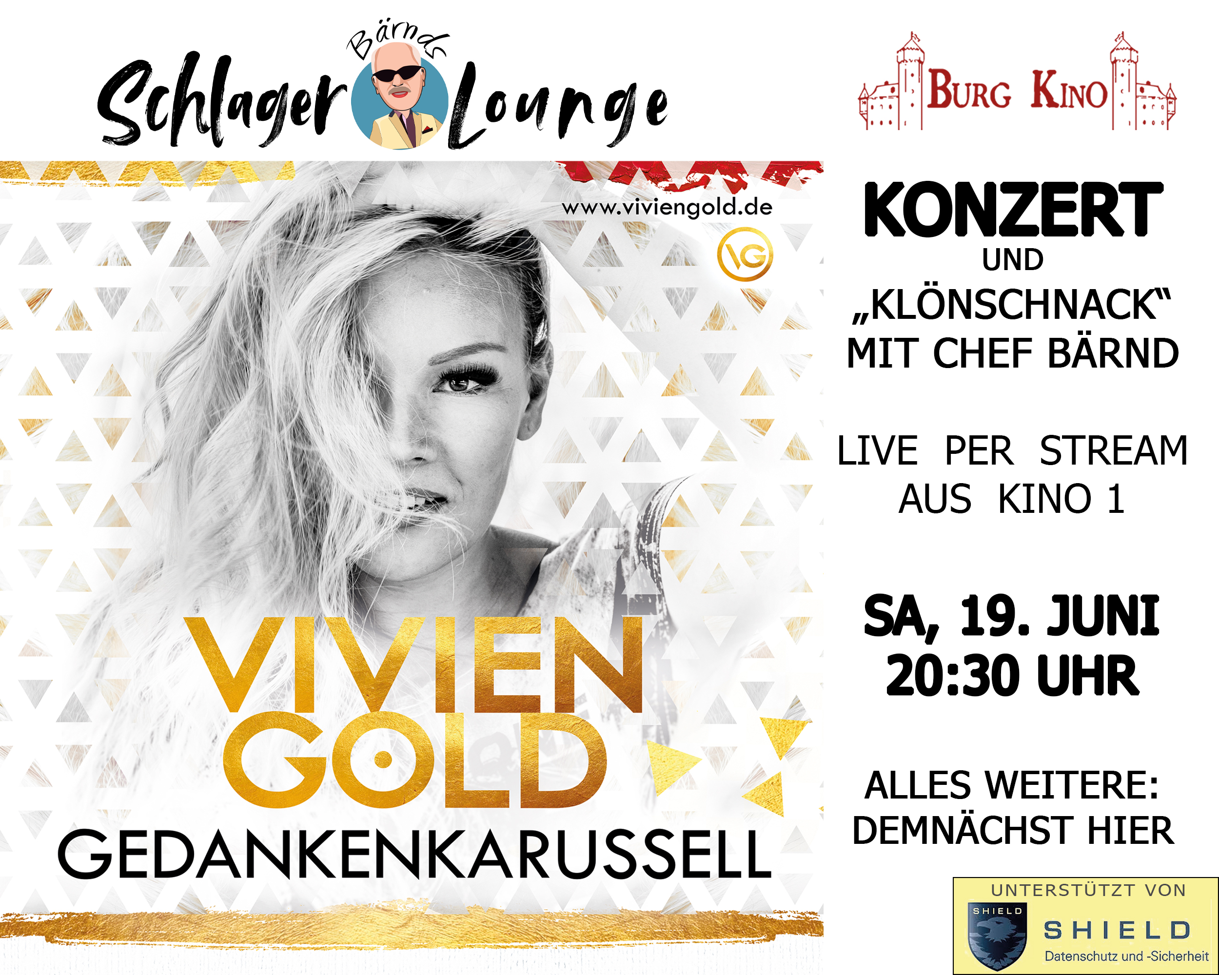 Konzert Vivien Gold Burg Kino Livestream
