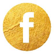 Social-Media Icon Facebook gold