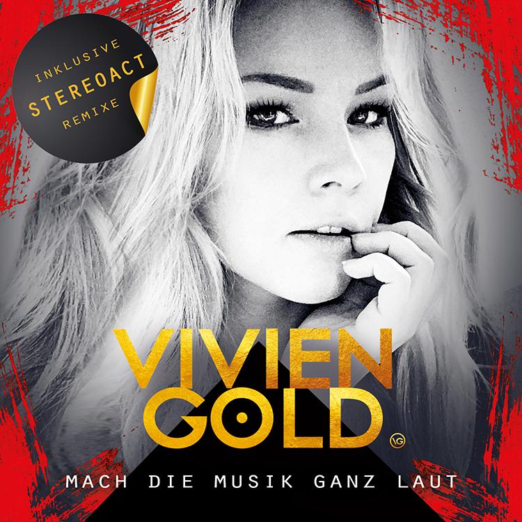Schlagersängerin VIVIEN GOLD - Single Cover Mach die Musik ganz laut